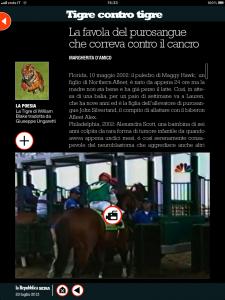 Tigre contro tigre - Il purosangue che correva contro il cancro - di Margherita d'Amico - Repubblica sera