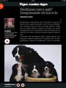 Tigre contro tigre - Sterilizzare cani e gatti? Irresponsabile chi non lo fa - di Margherita d'Amico - Repubblica sera