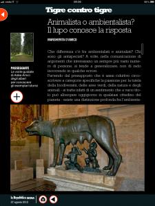 Tigre contro tigre -Animalista o antispecista? Il lupo conosce la risposta - di Margherita d'Amico - Repubblica sera