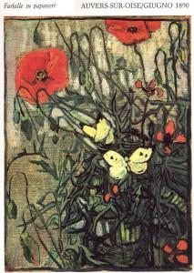 Vincent Van Gogh - Farfalla su papaveri