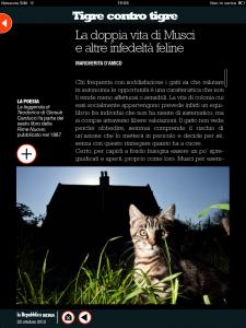 Tigre contro tigre - La doppia vita di Musci e altre infedeltà feline - di Margherita d'Amico - Repubblica Sera