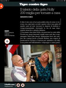 Tigre contro tigre - Il talento della gatta Holly: 200 miglia per tornare a casa - di Margherita d'Amico - Repubblica sera