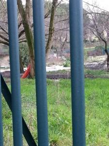 Il cantiere fermo al Pincio per la megascuderia dei vetturini delle botticelle - copyright Md'A