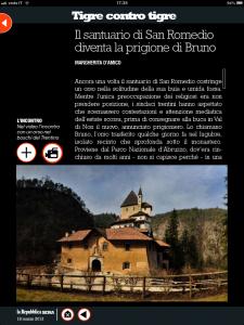 Tigre contro tigre - Il santuario di San Romedio diventa la prigione di Bruno - di Margherita d'Amico - Repubblica sera
